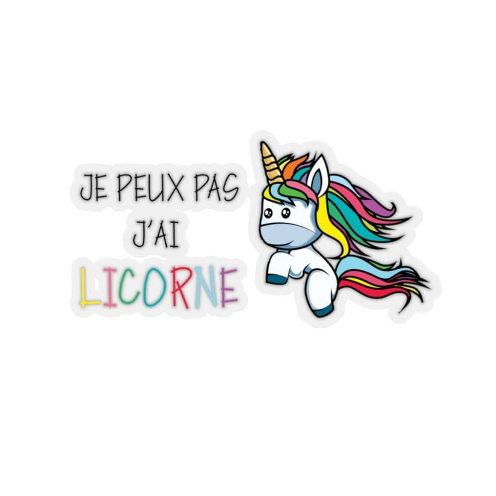 Stickers je peux pas j'ai licorne - 3x3 / Transparent - Home