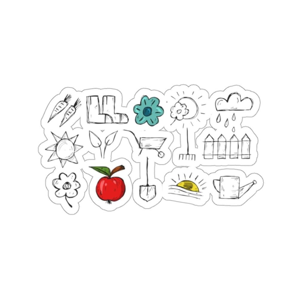 Stickers outils de jardin - 3x3 / White - Home & Living