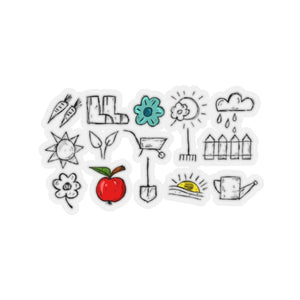 Stickers outils de jardin - 6x6 / Transparent - Home &