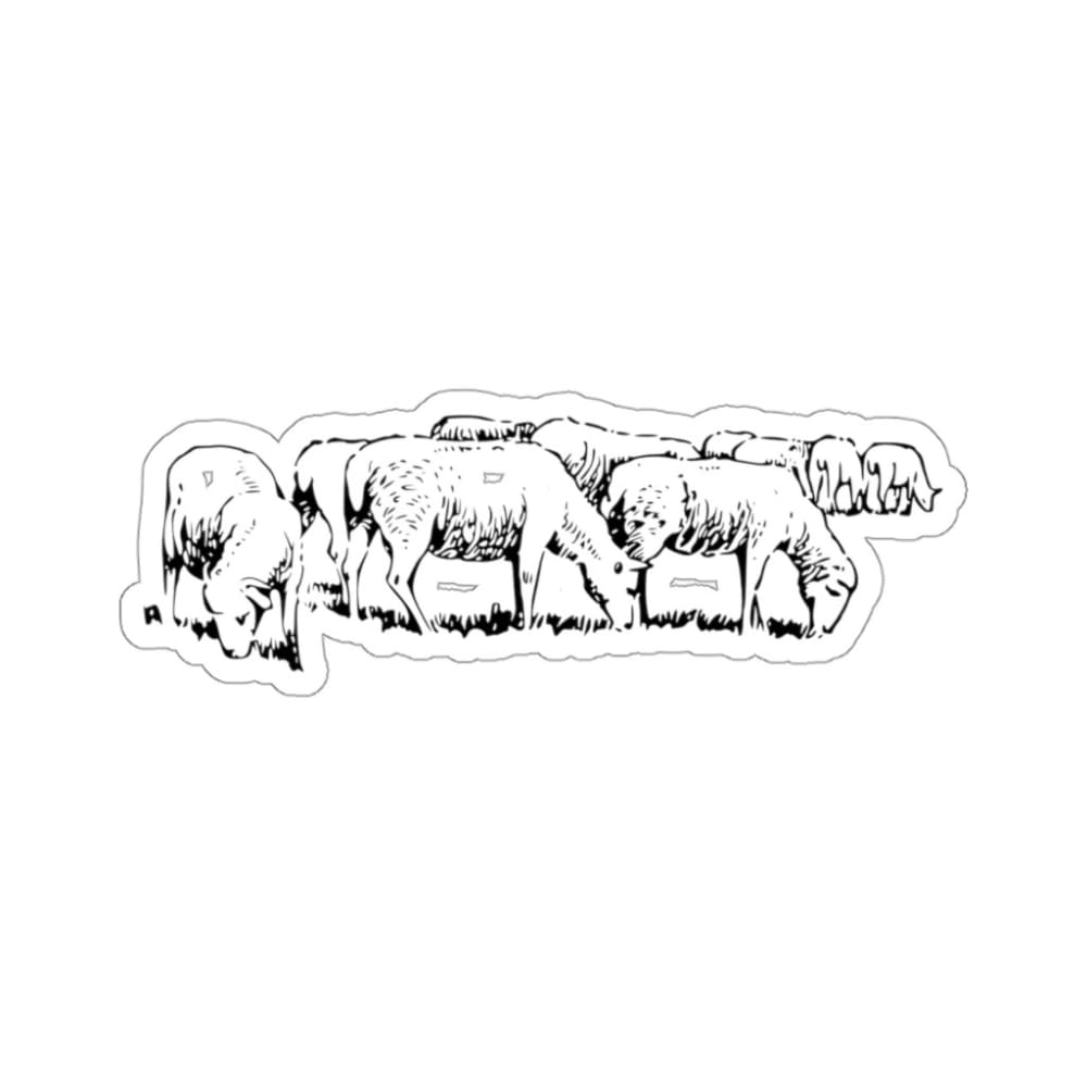 Stickers troupeau moutons - 3x3 / White - Home & Living