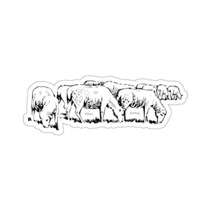 Stickers troupeau moutons - 6x6 / White - Home & Living