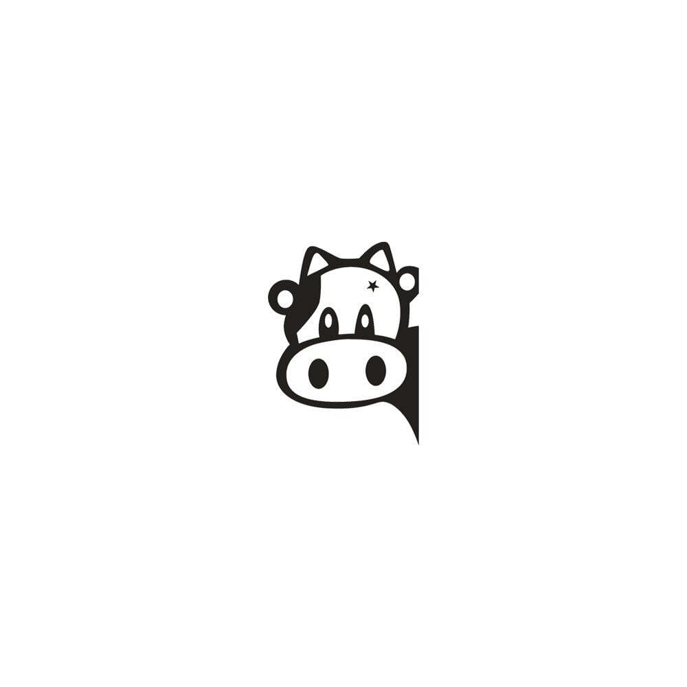 Stickers vache curieuse
