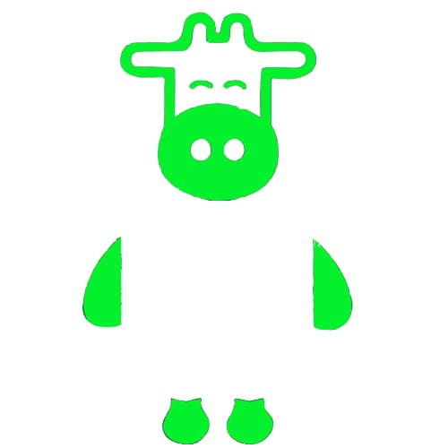 Stickers vache luminescent - 1