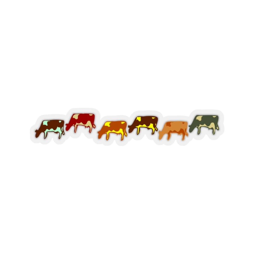 Stickers vaches - 6x6 / Transparent - Home & Living