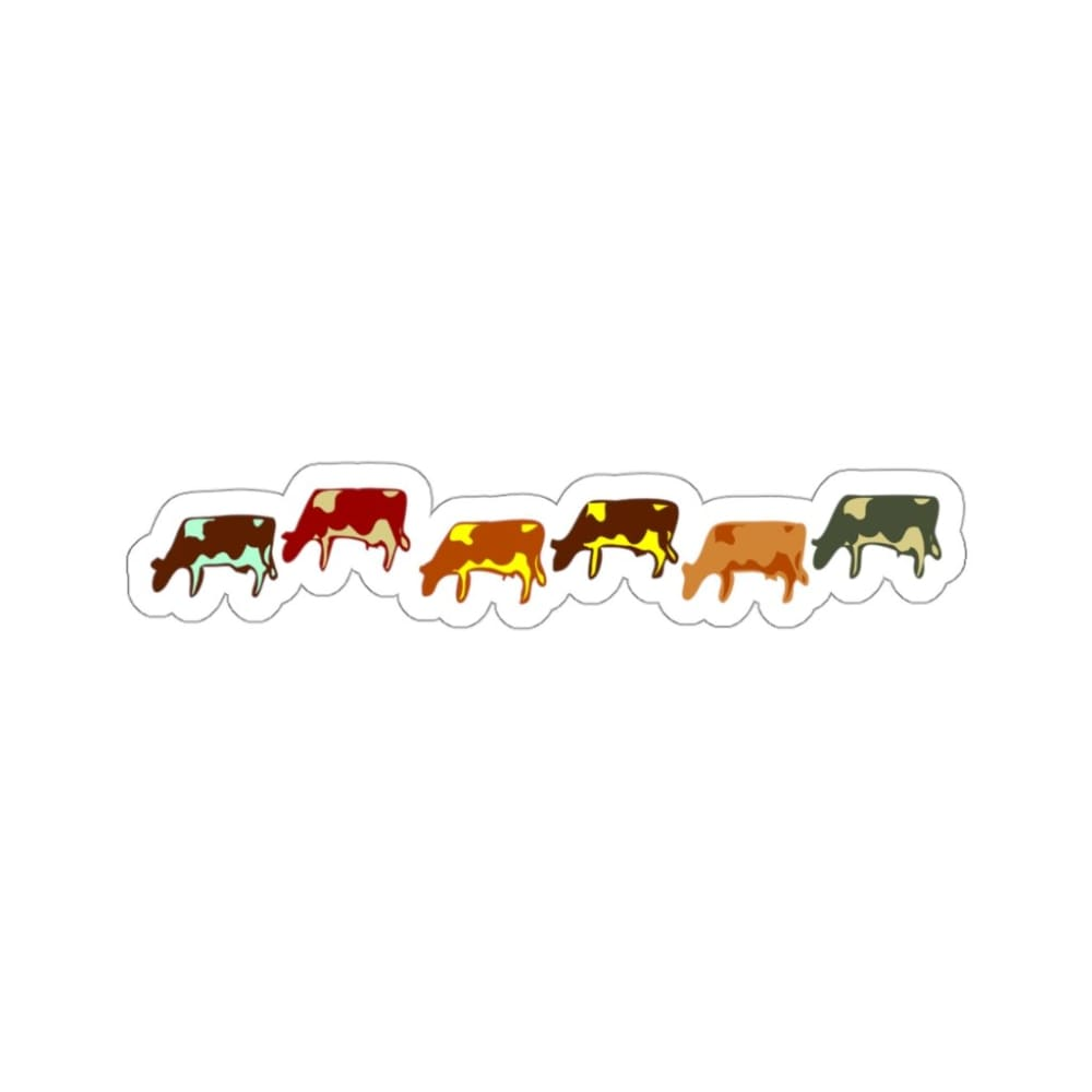Stickers vaches - 6x6 / White - Home & Living