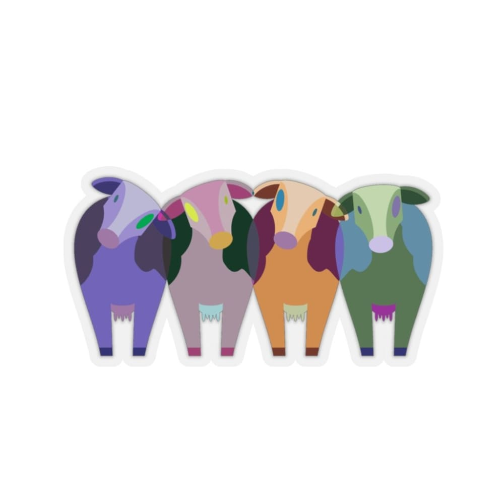 Stickers vaches multicolores - Home & Living
