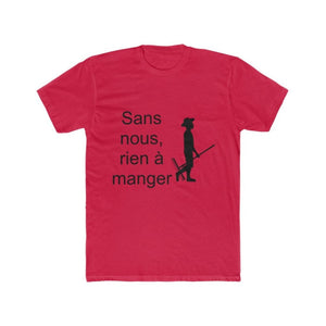 T-shirt agriculteur sans nous - Solid Red / XS - DTG - Men's