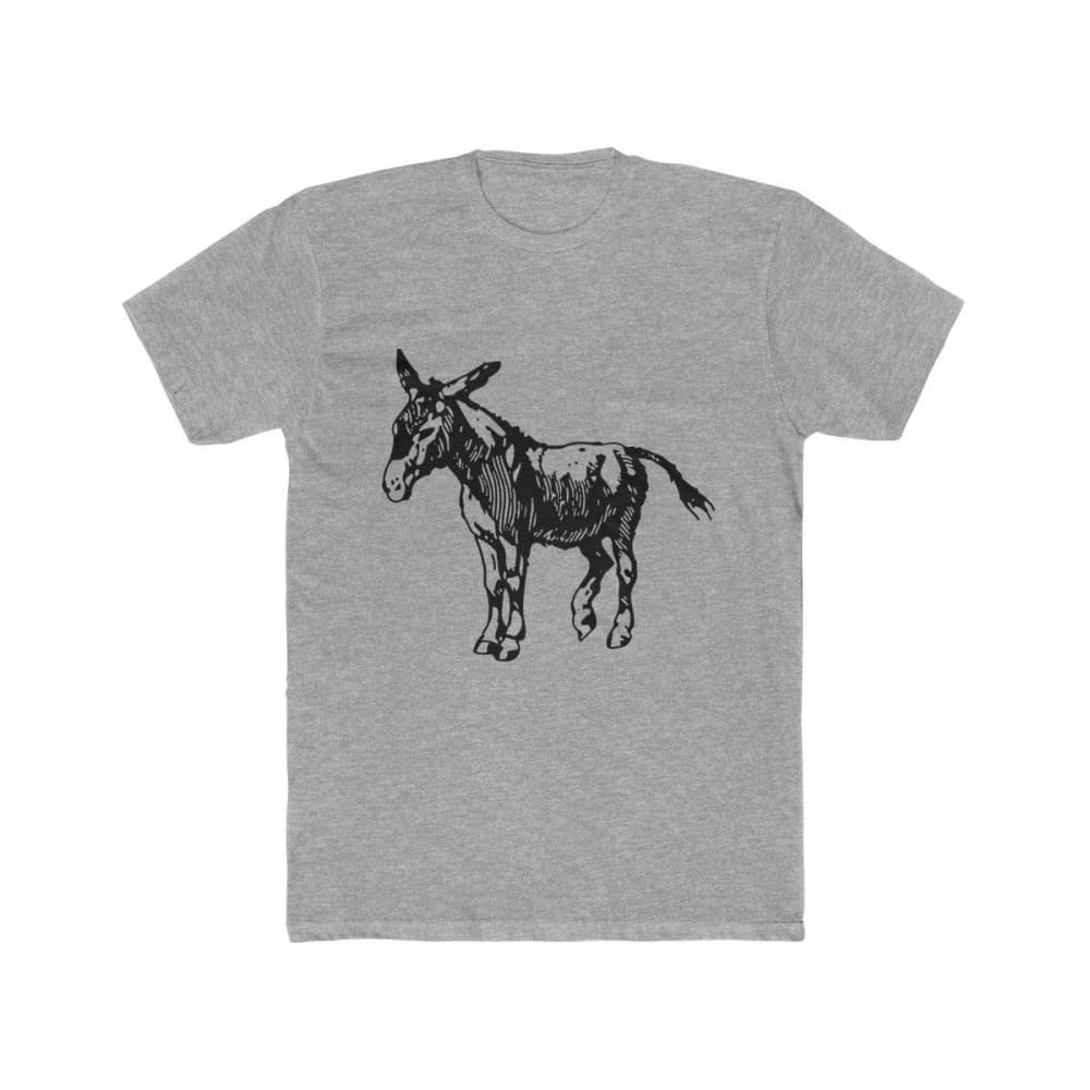T-shirt âne homme - Heather Grey / XS - DTG - Men's Clothing