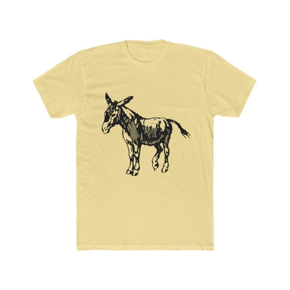T-shirt âne homme - Solid Banana Cream / XS - DTG - Men's