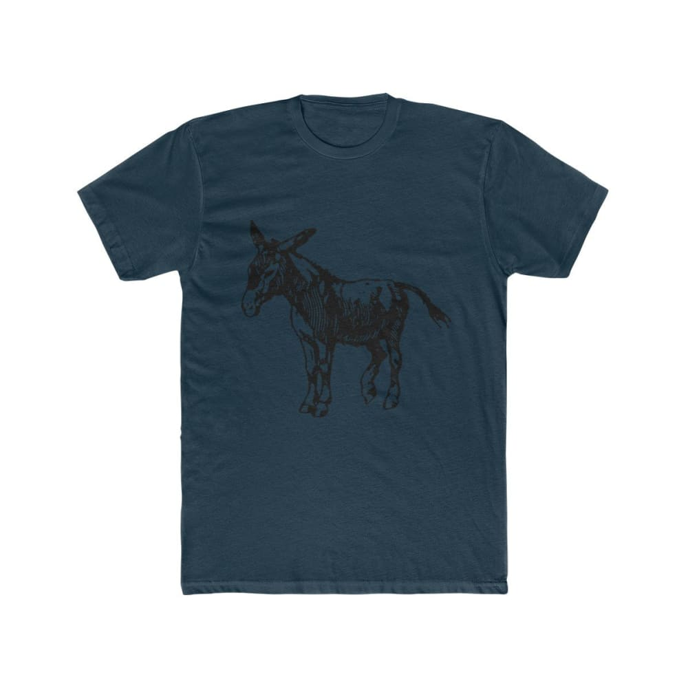 T-shirt âne homme - Solid Midnight Navy / XS - DTG - Men's