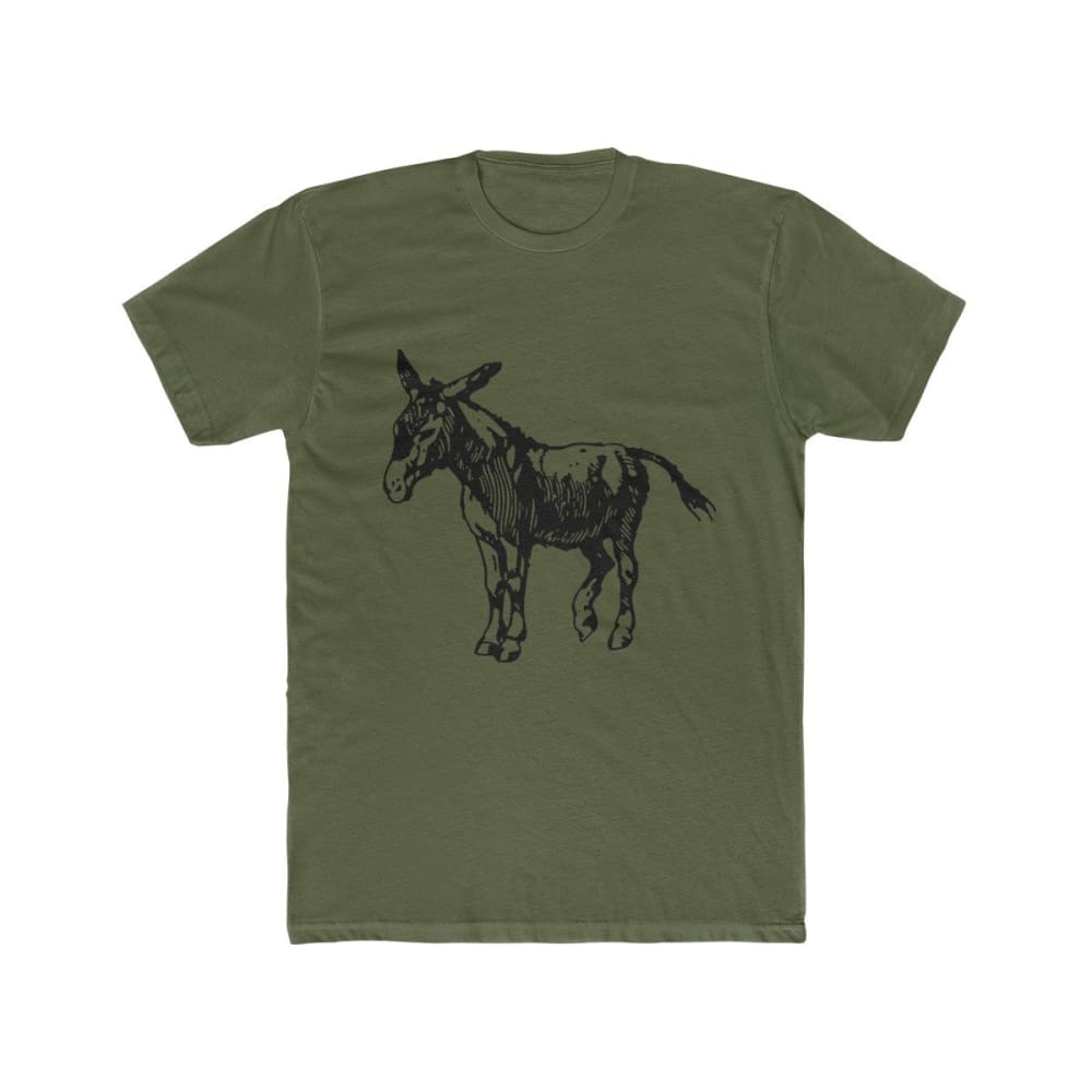 T-shirt âne homme - Solid Military Green / XS - DTG - Men's