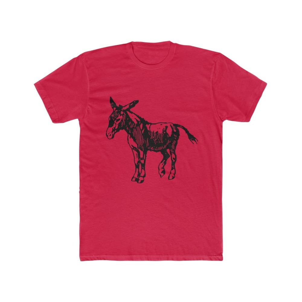 T-shirt âne homme - Solid Red / XS - DTG - Men's Clothing -