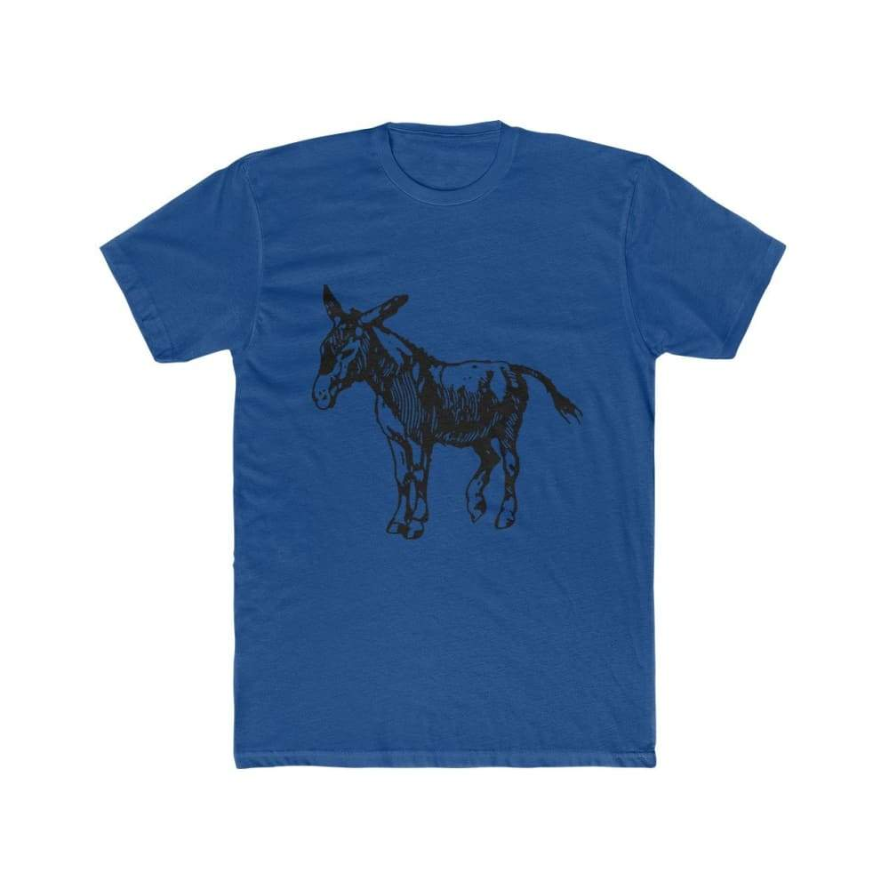 T-shirt âne homme - Solid Royal / XS - DTG - Men's Clothing