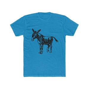 T-shirt âne homme - Solid Turquoise / XS - DTG - Men's