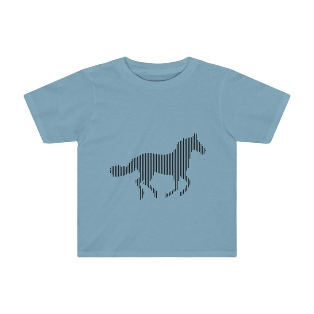T-shirt cheval au galop enfant - Sky Blue / 4T - Crew neck -