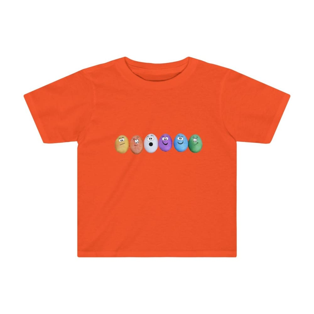 T-shirt drôles d'œufs enfant - Orange / 2T - Crew neck - DTG