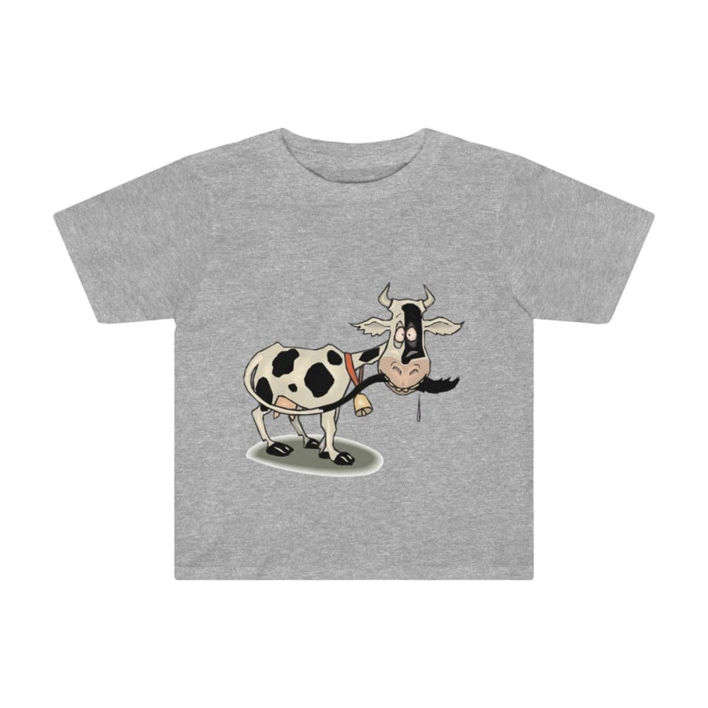 T-shirt enfant vache folle - Athletic Heather / 2T - Crew