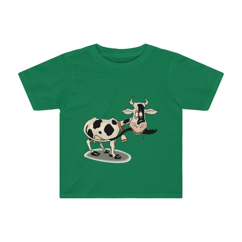 T-shirt enfant vache folle - Kelly / 2T - Crew neck - DTG -