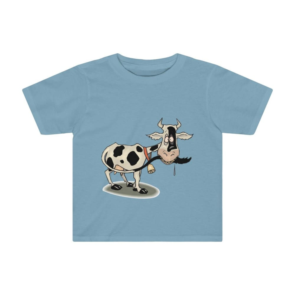 T-shirt enfant vache folle - Sky Blue / 2T - Crew neck - DTG