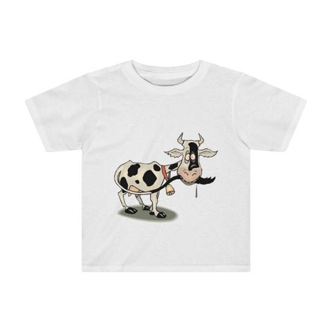 T-shirt enfant vache folle - White / 4T - Crew neck - DTG -