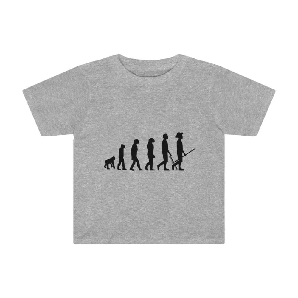 T-shirt évolution de l'homme enfant - Athletic Heather / 2T