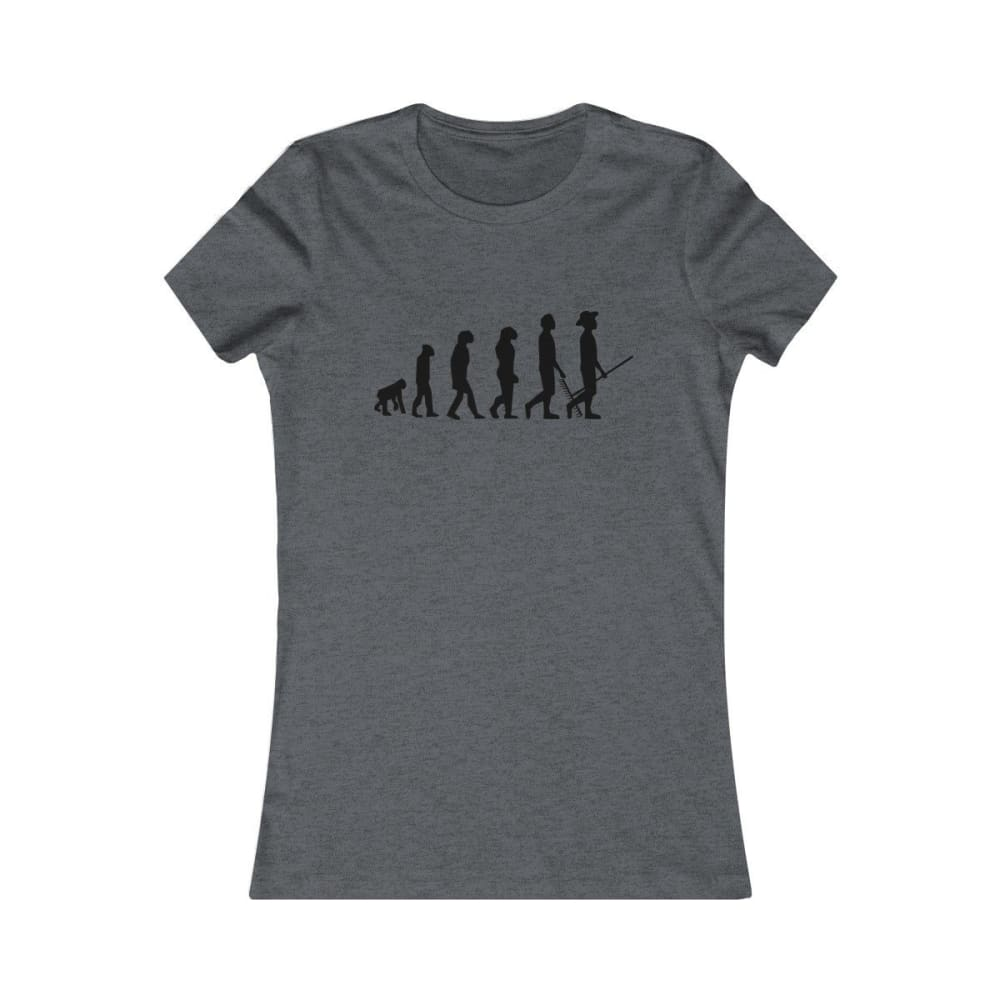 T-shirt évolution de l'homme femme - Dark Grey Heather / S -