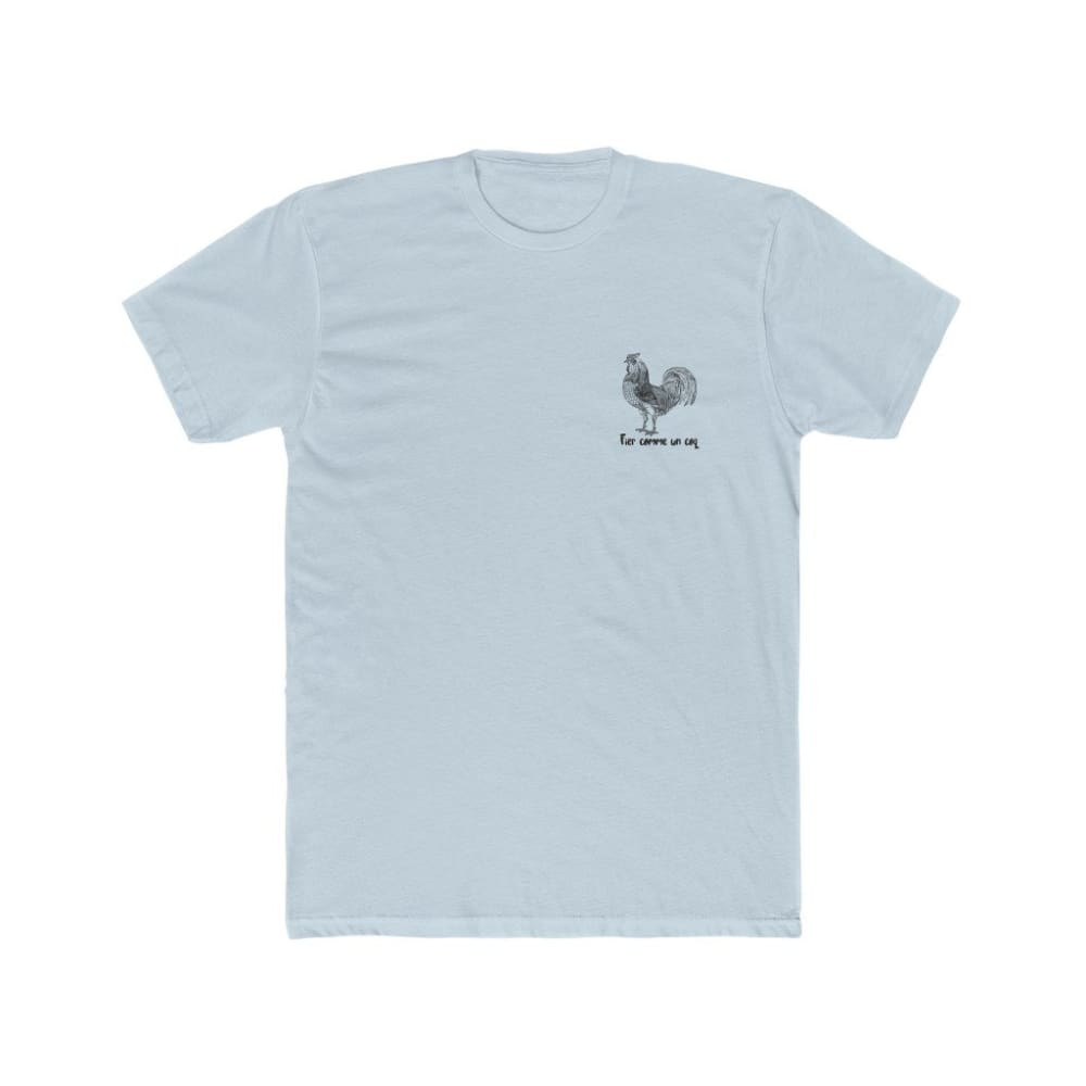 T-shirt Fier comme un coq discret - Solid Light Blue / S -