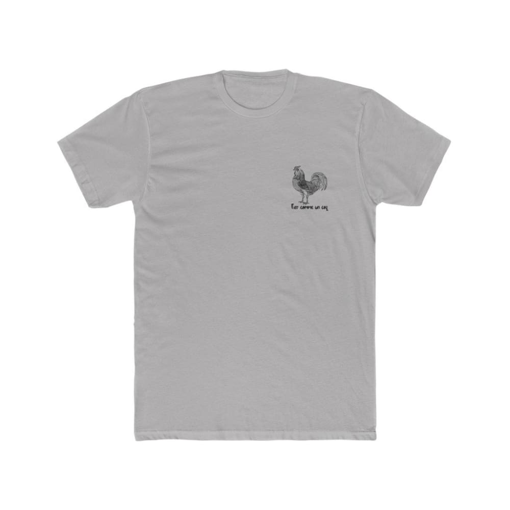 T-shirt Fier comme un coq discret - Solid Light Grey / S -