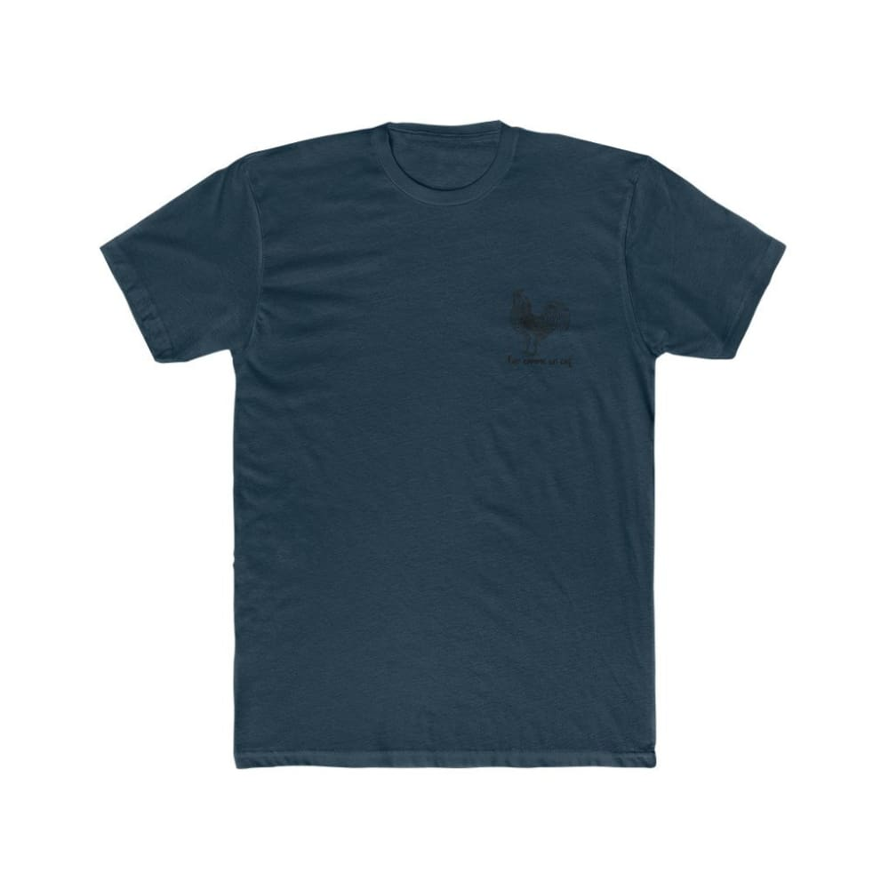 T-shirt Fier comme un coq discret - Solid Midnight Navy / S