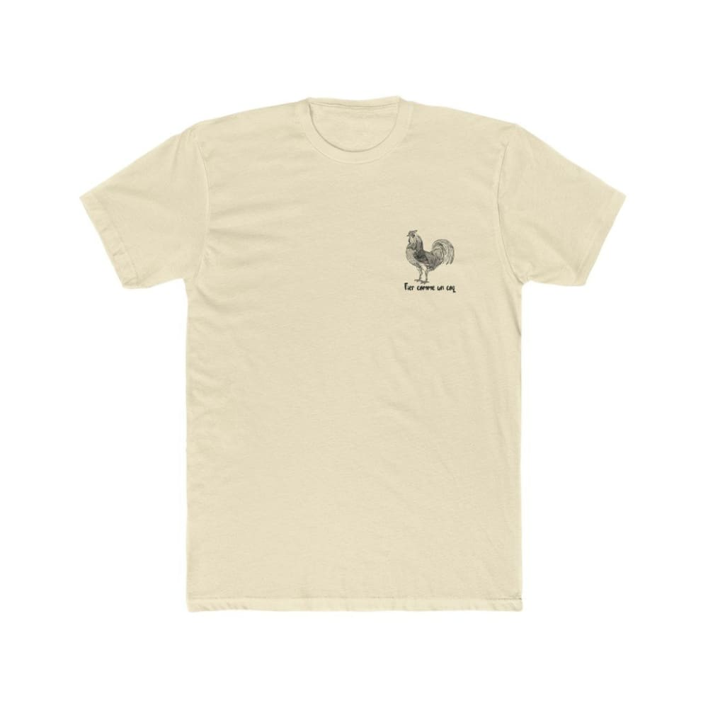 T-shirt Fier comme un coq discret - Solid Natural / S - DTG