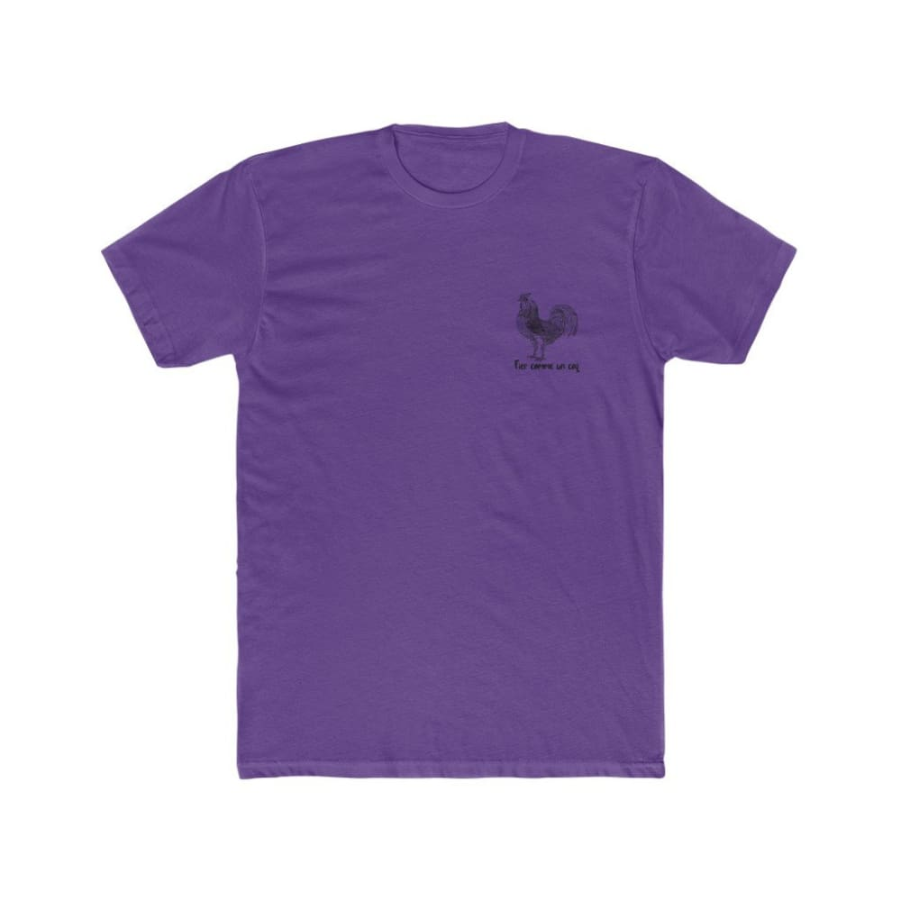 T-shirt Fier comme un coq discret - Solid Purple Rush / S -