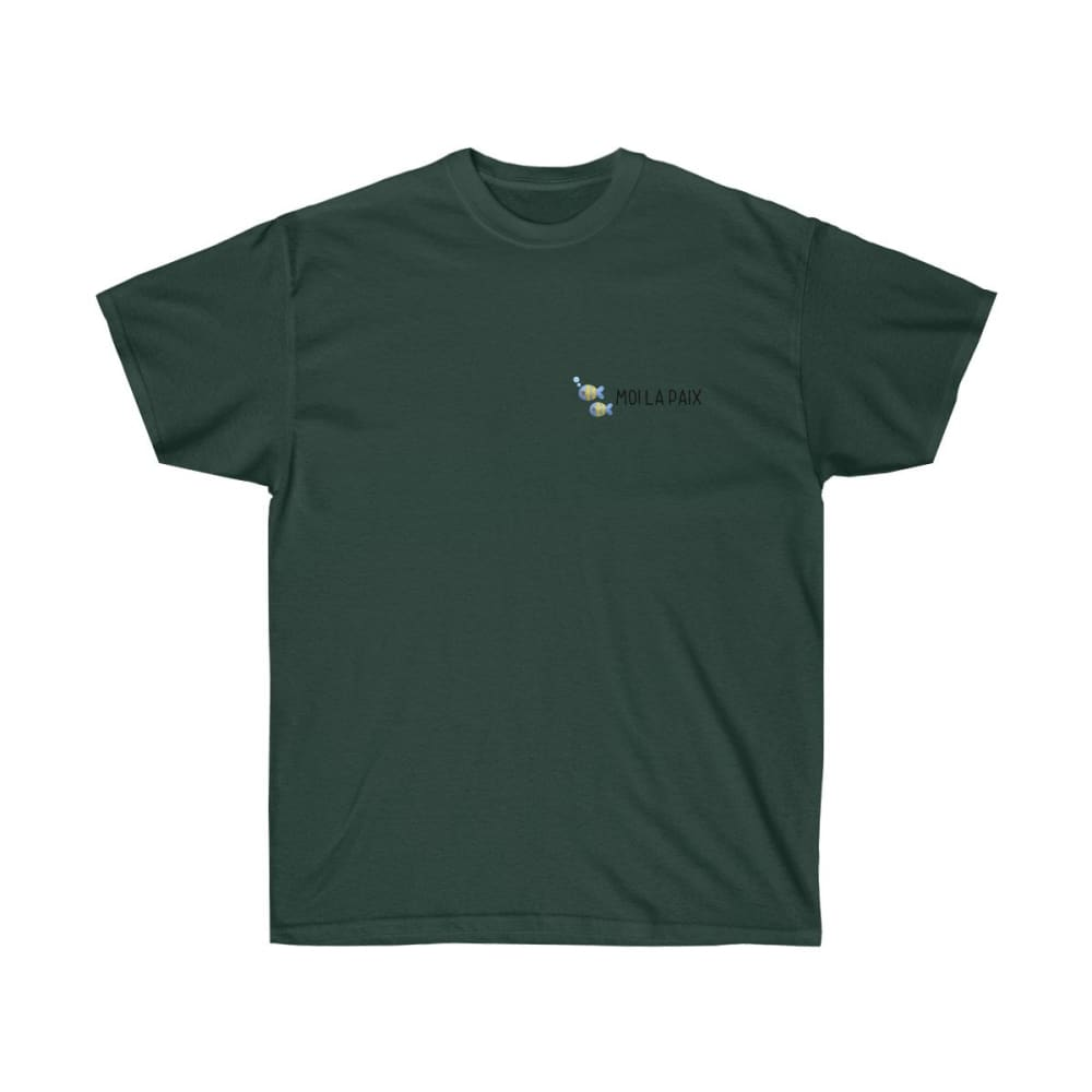 T-shirt Fish-moi la paix logo homme - Forest Green / S -