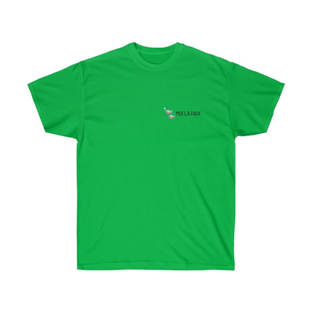 T-shirt Fish-moi la paix logo homme - Irish Green / S - Crew