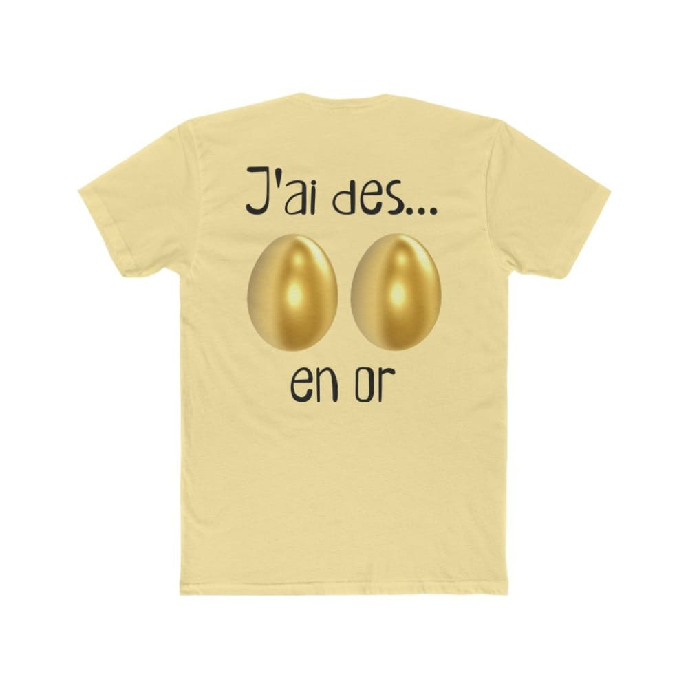 T-shirt J'ai des *** en or - Solid Banana Cream / XS - Crew