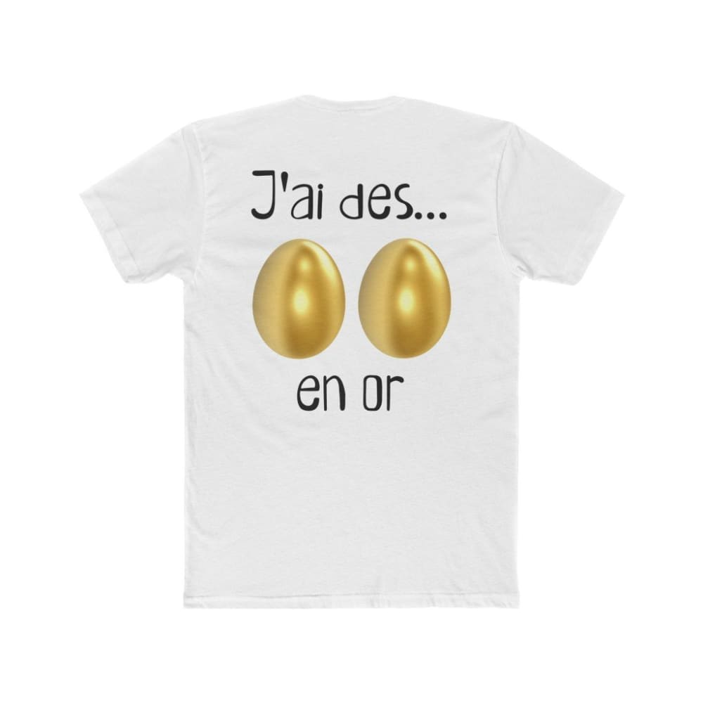 T-shirt J'ai des *** en or - Solid White / L - Crew neck -