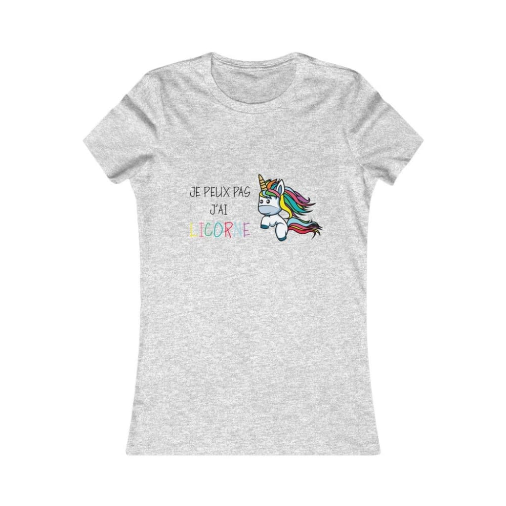 T-shirt je peux pas j'ai licorne femme - Athletic Heather /