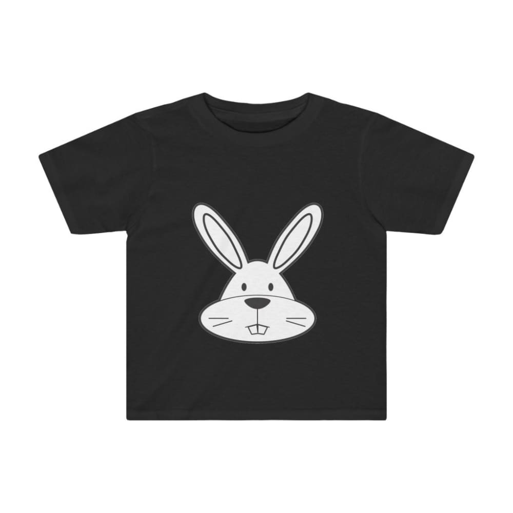 T-shirt lapin enfant - Black / 2T - Crew neck - DTG - Kid's