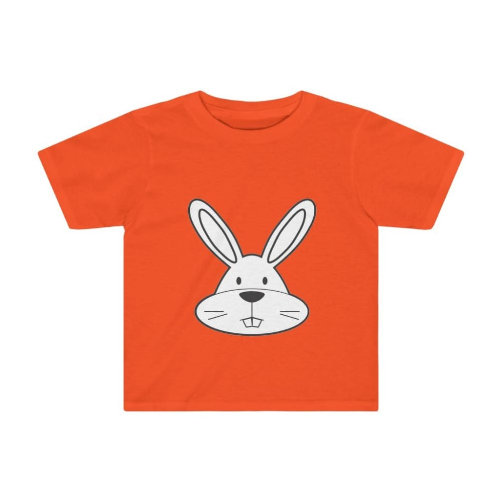 T-shirt lapin enfant - Orange / 4T - Crew neck - DTG - Kid's