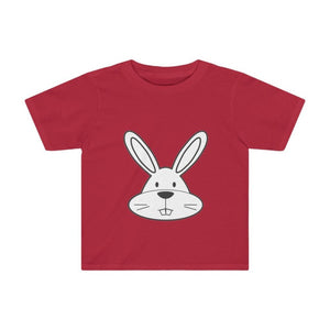 T-shirt lapin enfant - Red / 2T - Crew neck - DTG - Kid's