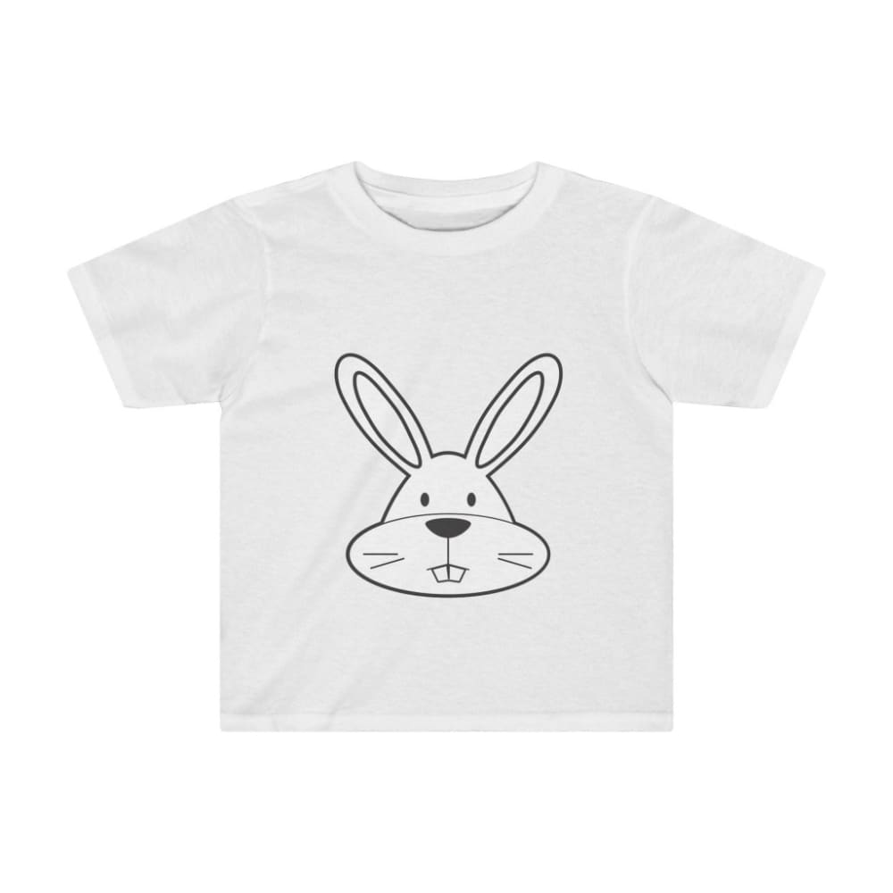 T-shirt lapin enfant - White / 2T - Crew neck - DTG - Kid's