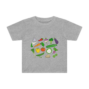 T-shirt légumes du jardin - Athletic Heather / 2T - Crew
