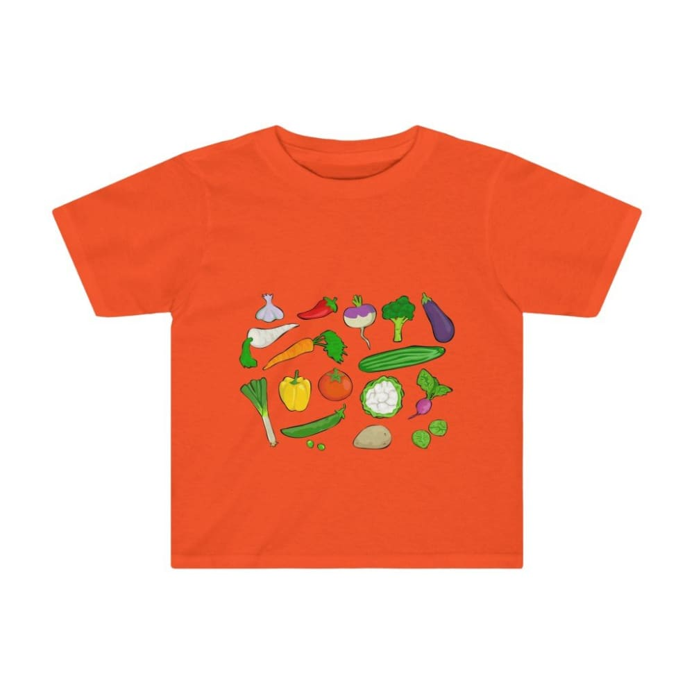 T-shirt légumes du jardin - Orange / 2T - Crew neck - DTG -