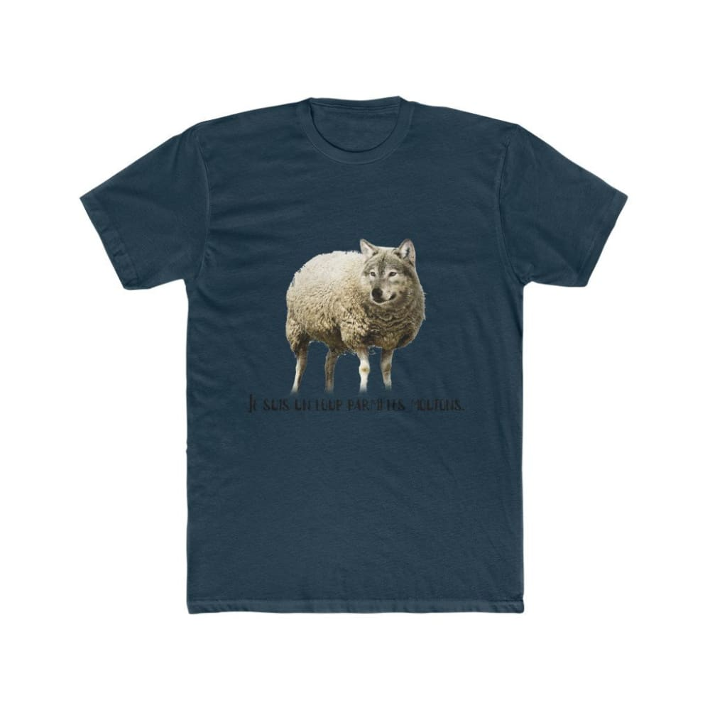 T-shirt loup parmi les moutons - Solid Midnight Navy / XS -