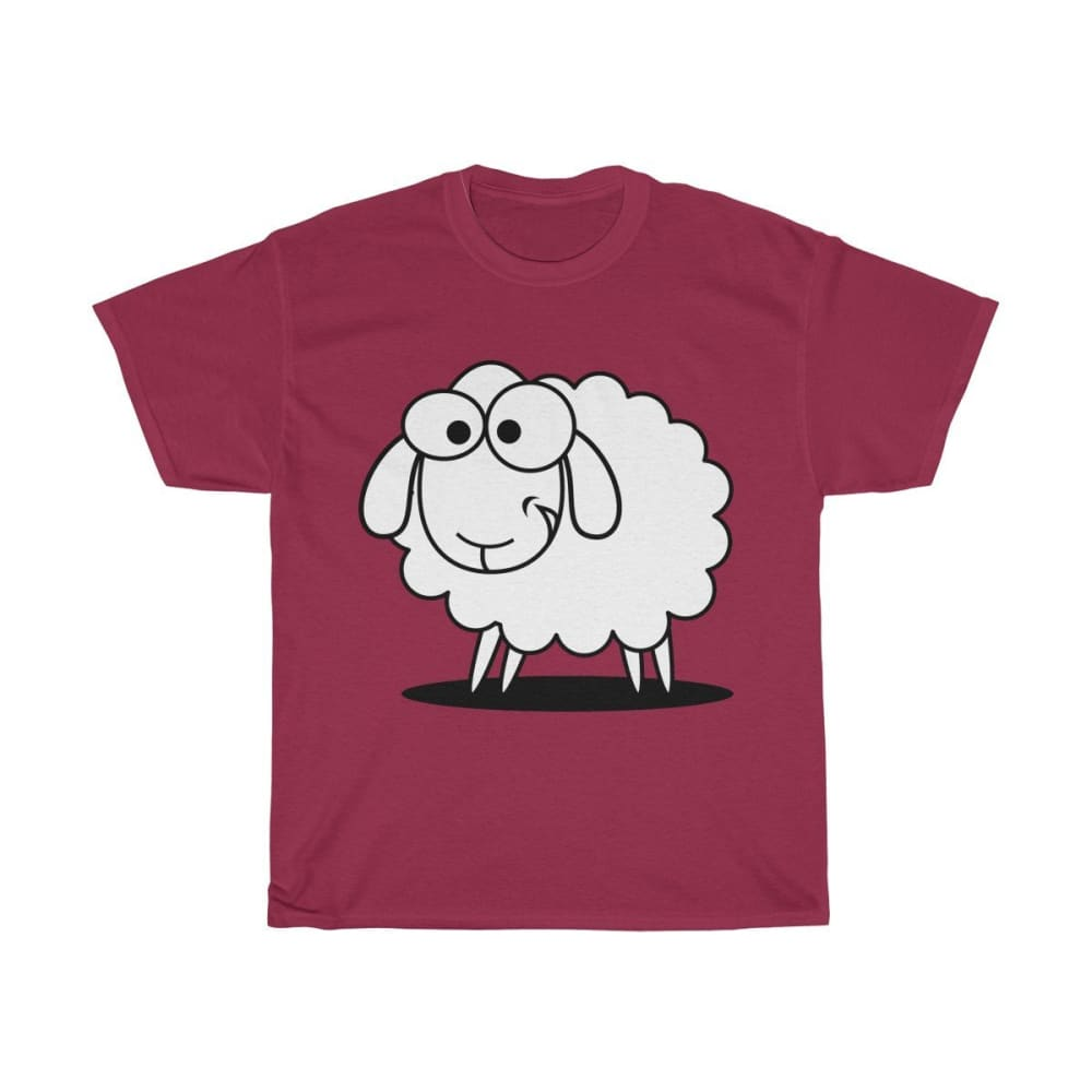 T-shirt mouton marrant - Cardinal Red / S - Crew neck - DTG