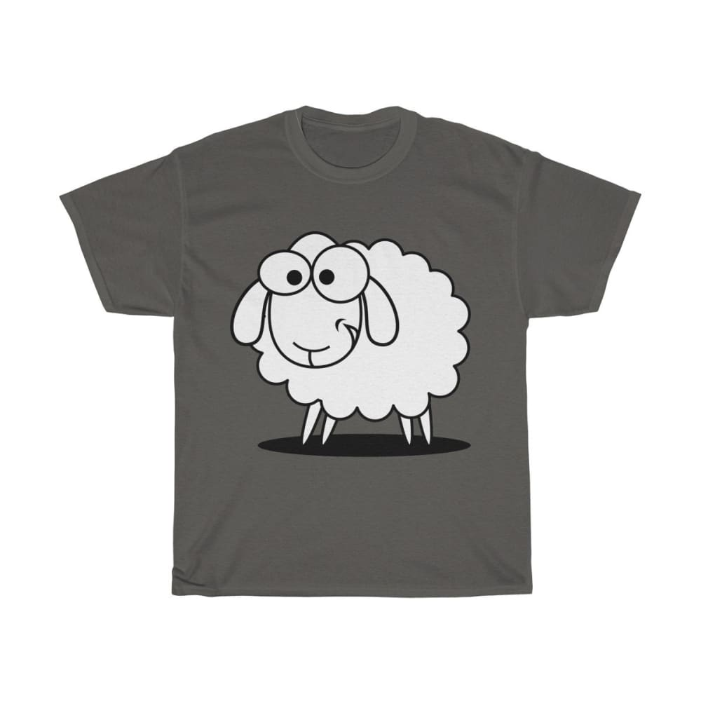 T-shirt mouton marrant - Charcoal / S - Crew neck - DTG -