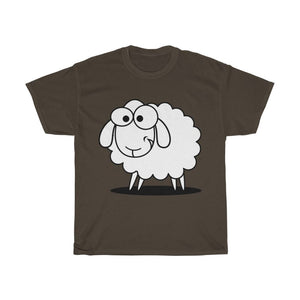 T-shirt mouton marrant - Dark Chocolate / S - Crew neck -
