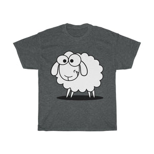 T-shirt mouton marrant - Dark Heather / S - Crew neck - DTG