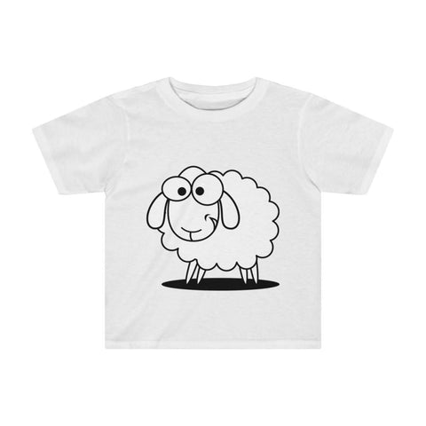 T-shirt mouton marrant enfant - White / 4T - Crew neck - DTG