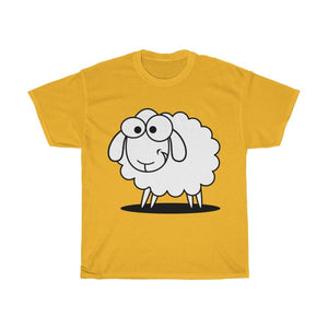 T-shirt mouton marrant - Gold / S - Crew neck - DTG - Men's