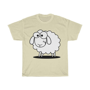 T-shirt mouton marrant - Natural / S - Crew neck - DTG -